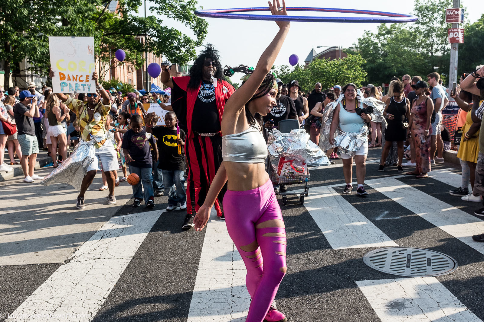 Marchers at the 2018 D.C. Funk Parade. (Courtesy Mike Landsman)