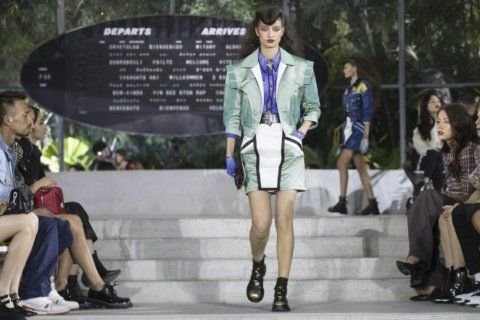 Louis Vuitton show transports guests without flight at JFK