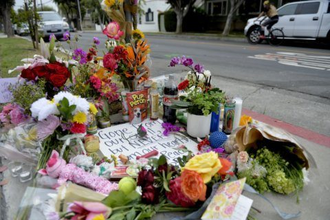 Mourners remember dog walker, and 5 dogs killed in crash