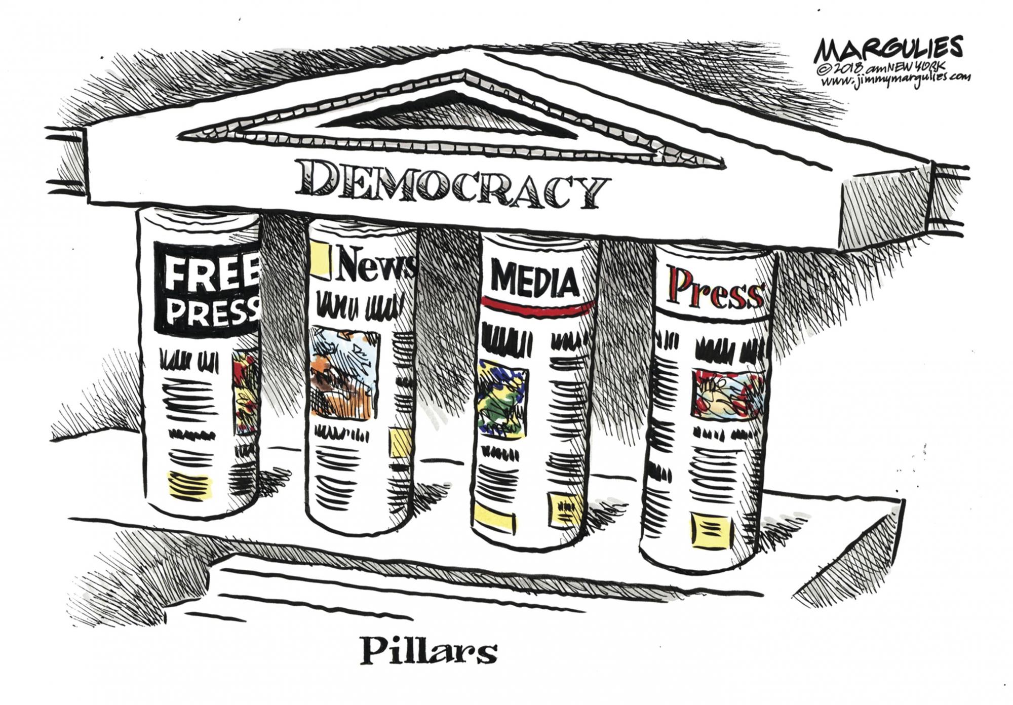 Exhibit highlights cartoonists' focus on First Amendment | WTOP