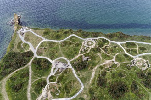 AP PHOTOS: D-Day Normandy sites today captured by drone