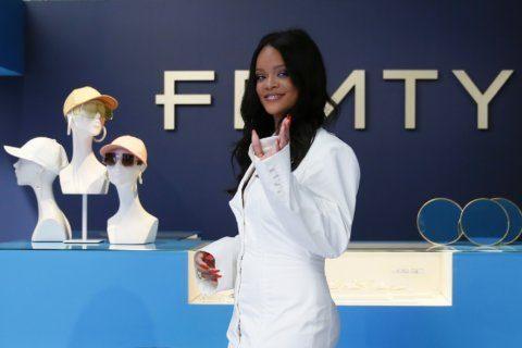 Rihanna feels the pressure as she makes fashion history