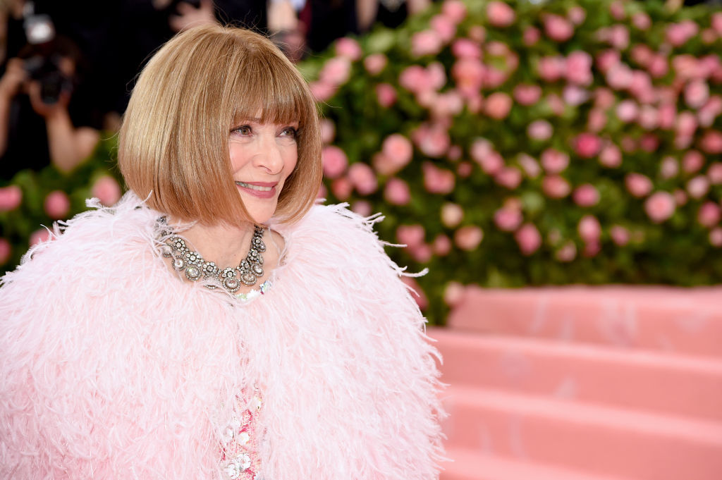 NEW YORK, NEW YORK - MAY 06: Anna Wintour attends The 2019 Met Gala Celebrating Camp: Notes on Fashionat Metropolitan Museum of Art on May 06, 2019 in New York City. (Photo by Jamie McCarthy/Getty Images)