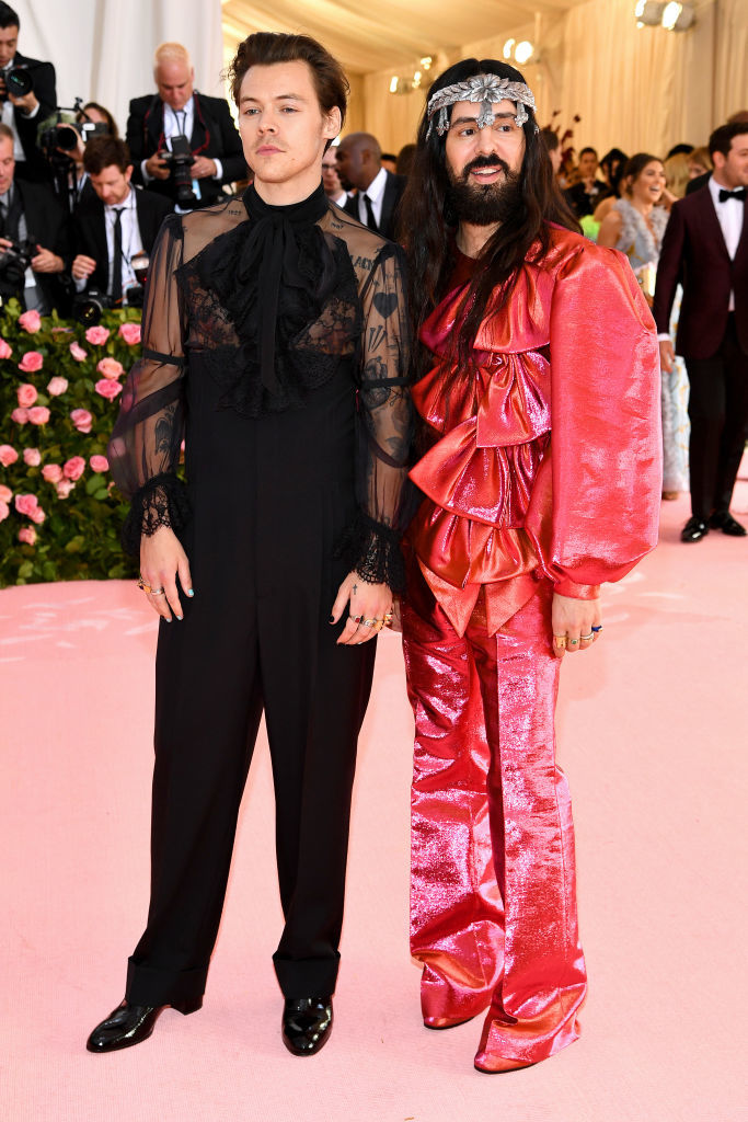 NEW YORK, NEW YORK - MAY 06:  Harry Styles and Alessandro Michele attend The 2019 Met Gala Celebrating Camp: Notes on Fashion at Metropolitan Museum of Art on May 06, 2019 in New York City. (Photo by Dimitrios Kambouris/Getty Images for The Met Museum/Vogue)