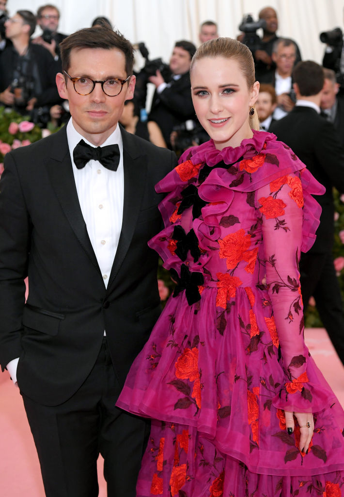 NEW YORK, NEW YORK - MAY 06: Erdem Moralioglu and Rachel Brosnahan attend The 2019 Met Gala Celebrating Camp: Notes on Fashion at Metropolitan Museum of Art on May 06, 2019 in New York City. (Photo by Neilson Barnard/Getty Images)