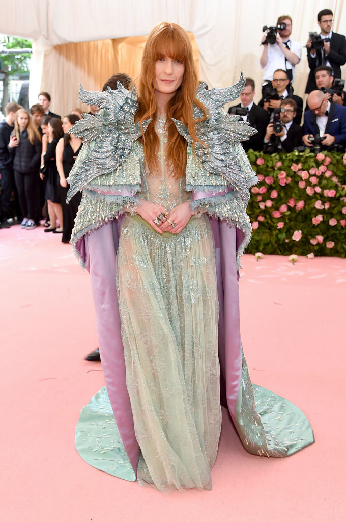 NEW YORK, NEW YORK - MAY 06: Florence Welch attends The 2019 Met Gala Celebrating Camp: Notes on Fashion at Metropolitan Museum of Art on May 06, 2019 in New York City. (Photo by Jamie McCarthy/Getty Images)