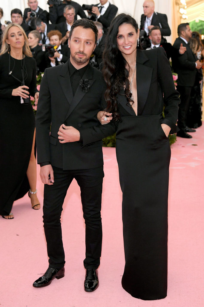 NEW YORK, NEW YORK - MAY 06: Anthony Vaccarello and Demi Moore attend The 2019 Met Gala Celebrating Camp: Notes on Fashion at Metropolitan Museum of Art on May 06, 2019 in New York City. (Photo by Neilson Barnard/Getty Images)