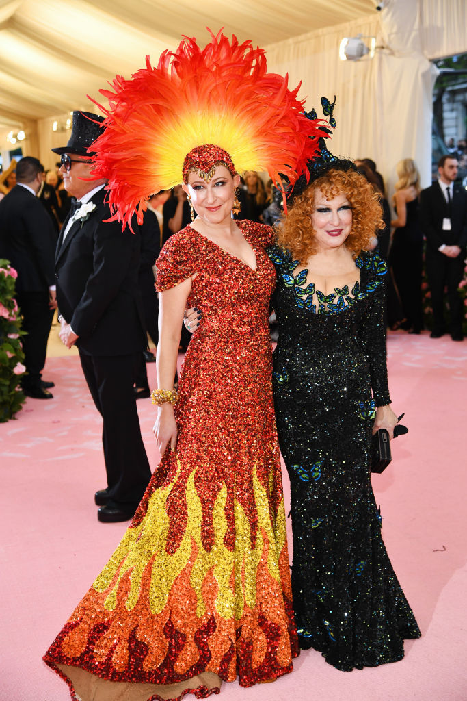 NEW YORK, NEW YORK - MAY 06: Sophie Von Haselberg and Bette Midler  attends The 2019 Met Gala Celebrating Camp: Notes on Fashion at Metropolitan Museum of Art on May 06, 2019 in New York City. (Photo by Dimitrios Kambouris/Getty Images for The Met Museum/Vogue)