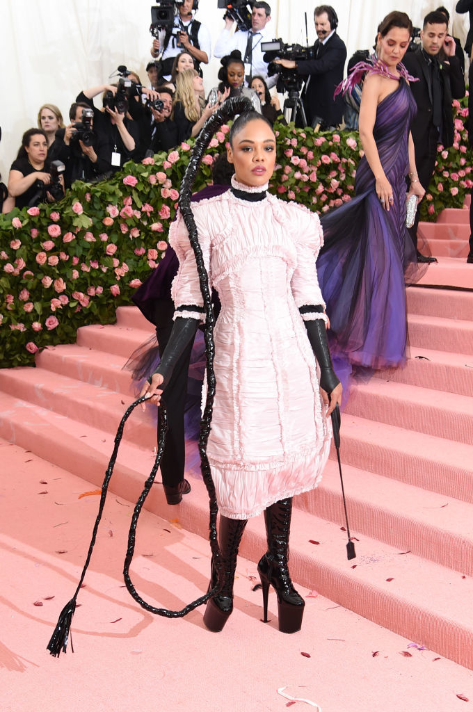 NEW YORK, NEW YORK - MAY 06: Tessa Thompson attends The 2019 Met Gala Celebrating Camp: Notes on Fashion at Metropolitan Museum of Art on May 06, 2019 in New York City. (Photo by Jamie McCarthy/Getty Images)