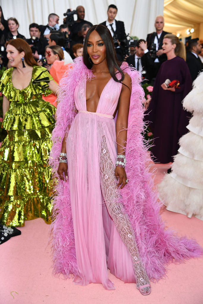 NEW YORK, NEW YORK - MAY 06: Naomi Campbell attends The 2019 Met Gala Celebrating Camp: Notes on Fashion at Metropolitan Museum of Art on May 06, 2019 in New York City. (Photo by Dimitrios Kambouris/Getty Images for The Met Museum/Vogue)