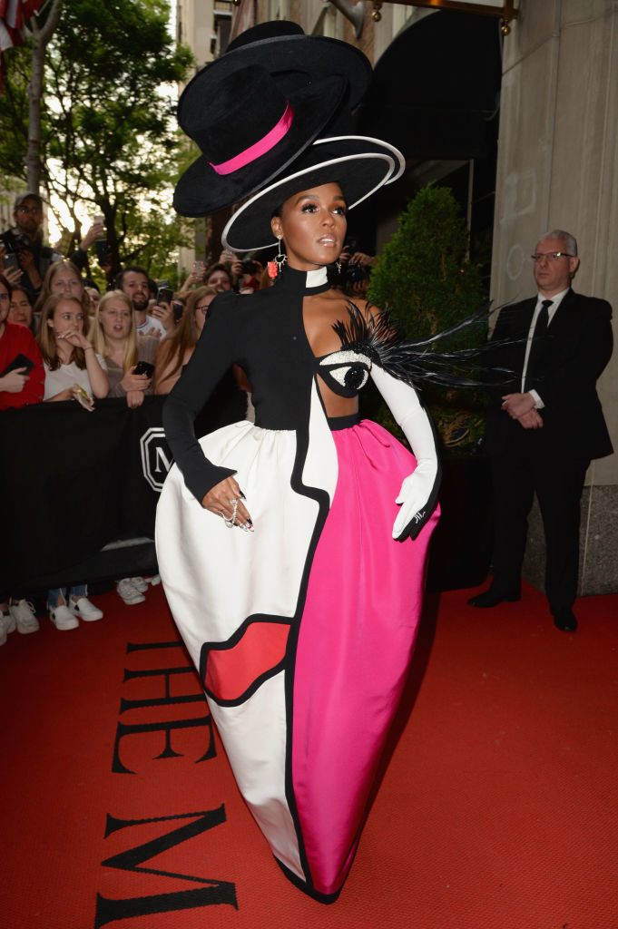 NEW YORK, NEW YORK - MAY 06: Janelle Monáe departs The Mark Hotel for the 2019 'Camp: Notes on Fashion' Met Gala on May 06, 2019 in New York City. (Photo by Andrew Toth/Getty Images for The Mark Hotel)