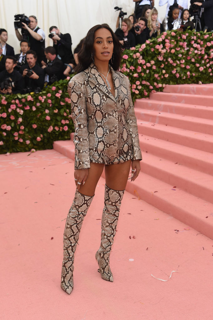 NEW YORK, NEW YORK - MAY 06: Solange Knowles attends The 2019 Met Gala Celebrating Camp: Notes on Fashion at Metropolitan Museum of Art on May 06, 2019 in New York City. (Photo by Jamie McCarthy/Getty Images)