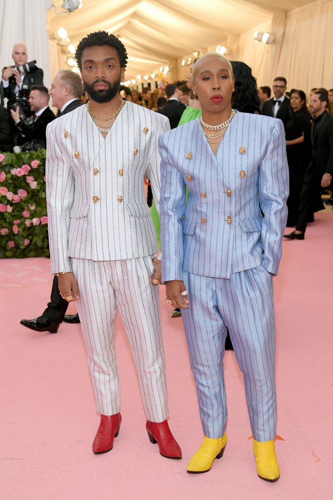 NEW YORK, NEW YORK - MAY 06: Kerby Jean-Raymond and Lena Waithe attend The 2019 Met Gala Celebrating Camp: Notes on Fashion at Metropolitan Museum of Art on May 06, 2019 in New York City. (Photo by Neilson Barnard/Getty Images)