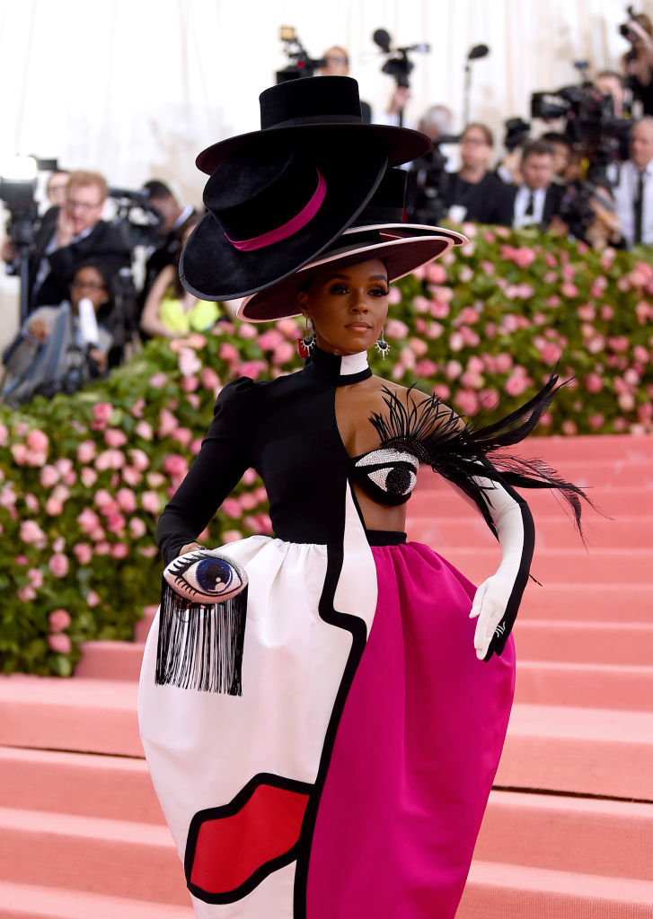 NEW YORK, NEW YORK - MAY 06: Janelle Monáe attends The 2019 Met Gala Celebrating Camp: Notes on Fashion at Metropolitan Museum of Art on May 06, 2019 in New York City. (Photo by Jamie McCarthy/Getty Images)