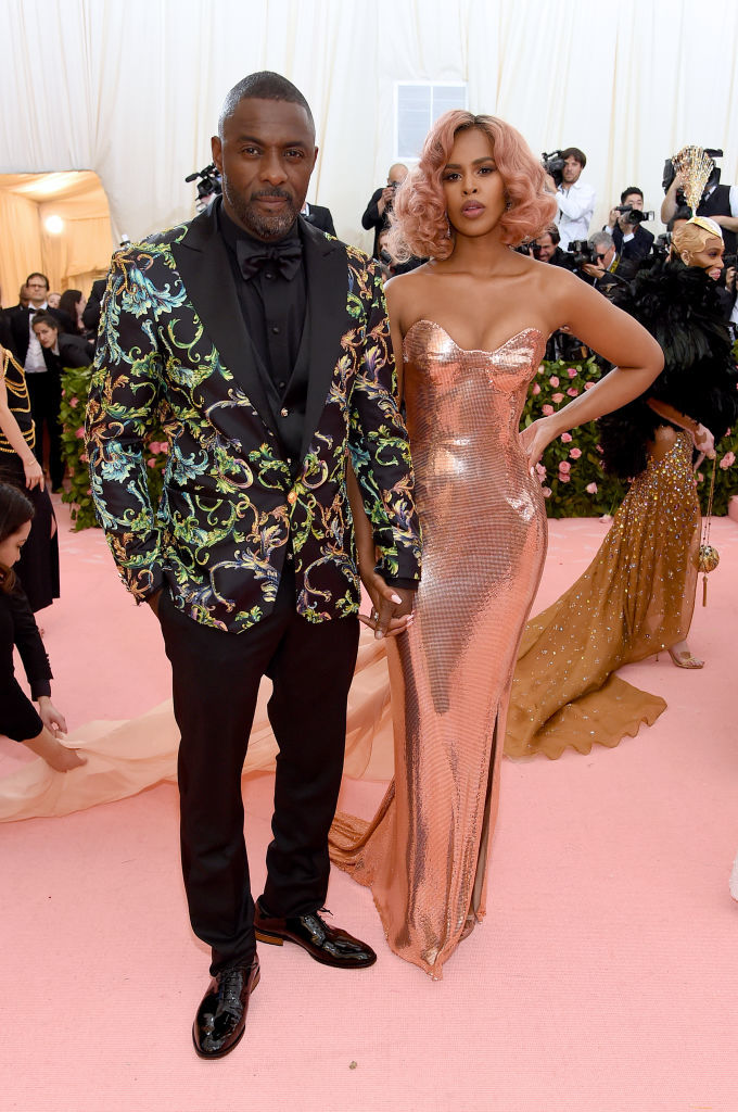 NEW YORK, NEW YORK - MAY 06: Idris Elba and Sabrina Dhowre attend The 2019 Met Gala Celebrating Camp: Notes on Fashion at Metropolitan Museum of Art on May 06, 2019 in New York City. (Photo by Jamie McCarthy/Getty Images)