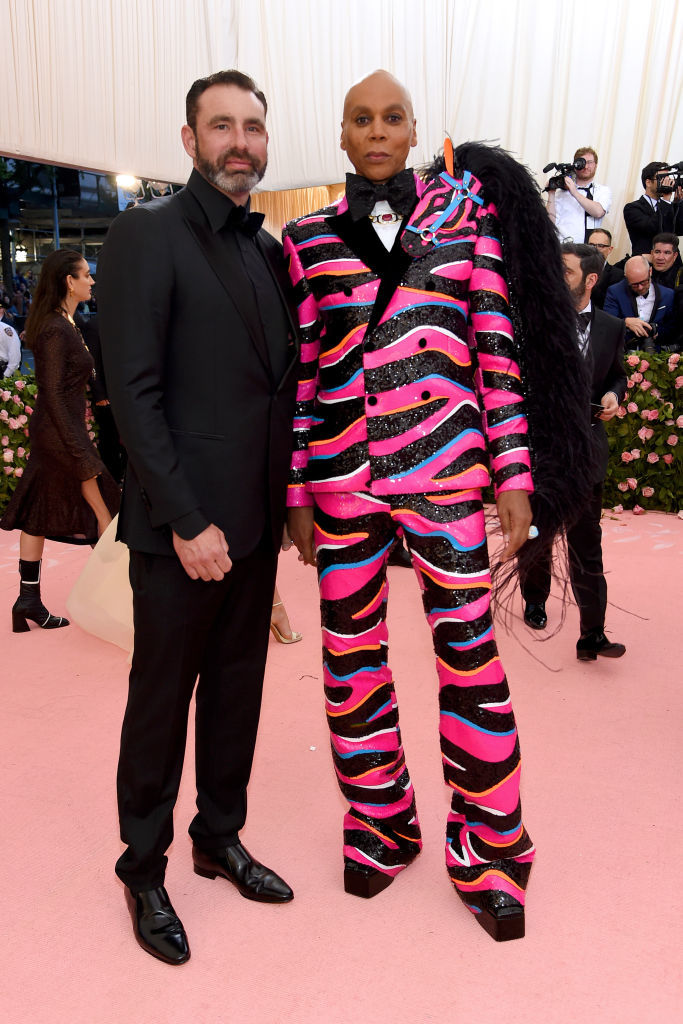 NEW YORK, NEW YORK - MAY 06: Georges LeBar and RuPaul attend The 2019 Met Gala Celebrating Camp: Notes on Fashion at Metropolitan Museum of Art on May 06, 2019 in New York City. (Photo by Jamie McCarthy/Getty Images)
