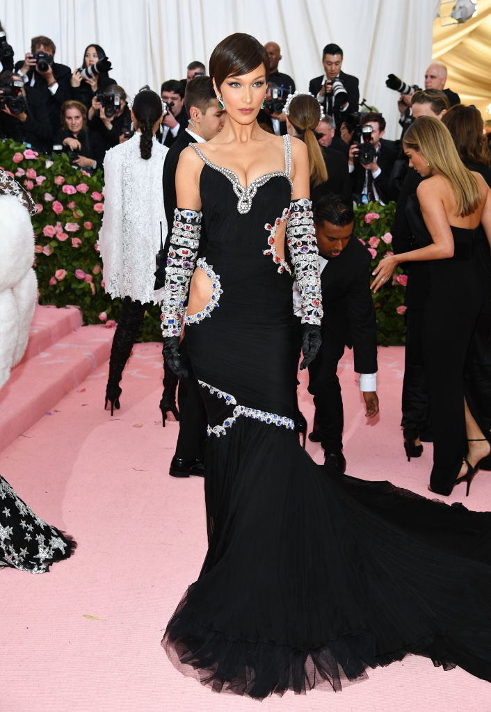 NEW YORK, NEW YORK - MAY 06: Bella Hadid attends The 2019 Met Gala Celebrating Camp: Notes on Fashion at Metropolitan Museum of Art on May 06, 2019 in New York City. (Photo by Dimitrios Kambouris/Getty Images for The Met Museum/Vogue)