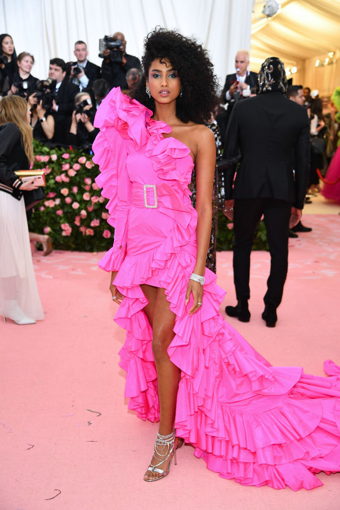 NEW YORK, NEW YORK - MAY 06:  Imaan Hammam attends The 2019 Met Gala Celebrating Camp: Notes on Fashion at Metropolitan Museum of Art on May 06, 2019 in New York City. (Photo by Dimitrios Kambouris/Getty Images for The Met Museum/Vogue)
