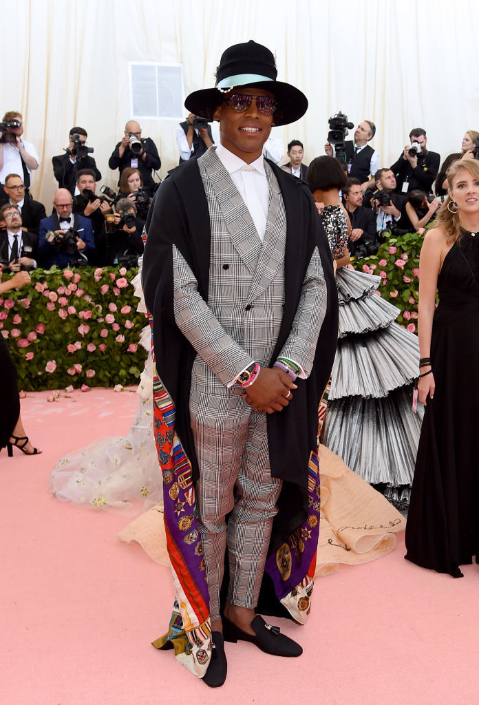 NEW YORK, NEW YORK - MAY 06:  Cam Newton attends The 2019 Met Gala Celebrating Camp: Notes on Fashion at Metropolitan Museum of Art on May 06, 2019 in New York City. (Photo by Jamie McCarthy/Getty Images)