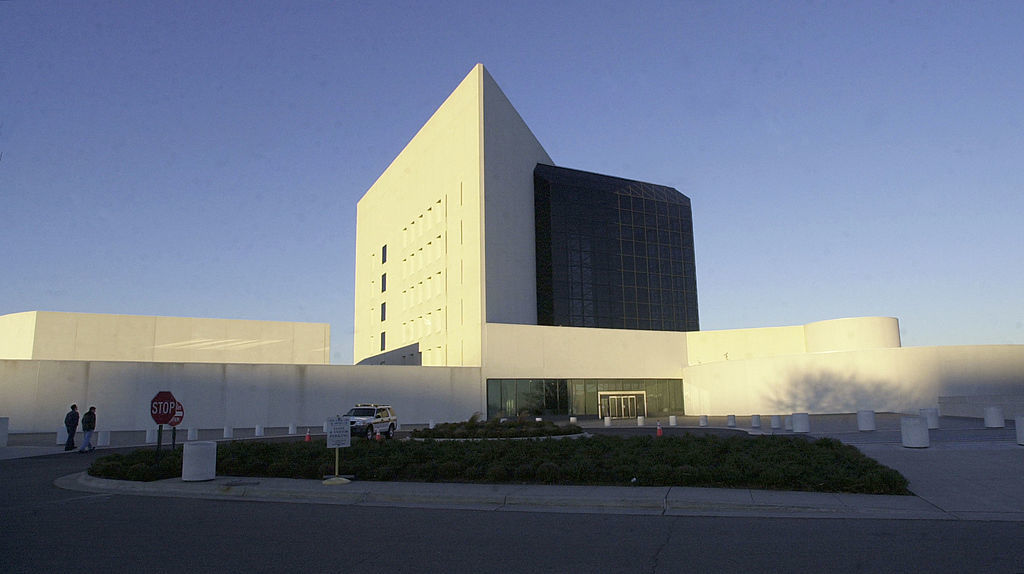 "BOSTON, MA - NOVEMBER 14:  The John F. Kennedy Library and Museum, designed by architect I.M. Pei, is seen on November 14, 2003 in Boston, Massachusetts.  The library is featuring a new exhibit, ""Gifts From the World to the White House:  Caroline Kennedy's Doll Collection (1961-63),"" which opened November 13 and runs through April 30, 2004, featuring gifts given by dignitaries from around the world to Caroline, who was three years old when her father became president of the United States in 1961. (Photo by Michael Springer/Getty Images)"
