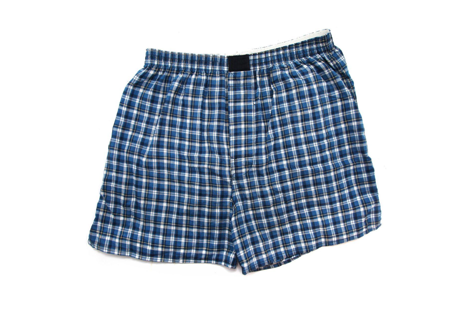Blue Boxer underwear isolated white background