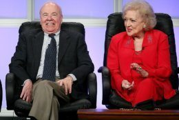 BEVERLY HILLS, CA - JULY 10:  Actor Tim Conway and actress Betty White speak during the PBS portion of the Television Critics Association Press Tour at the Beverly Hilton Hotel on July 10, 2007 in Beverly Hills, California.  (Photo by Frederick M. Brown/Getty Images)