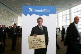 SAN FRANCISCO - OCTOBER 20:  An advertisement for mortgage broker Fannie Mae is seen at the 2008 Mortgage Banker's Association Conference and Expo October 20, 2008 in San Francisco, California. The aanual Mortgage Banker's conference runs through October 22.  (Photo by Justin Sullivan/Getty Images)