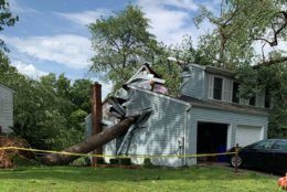 A tornado touched down in Howard County, Maryland, on Thursday, May 23, 2019. (Courtesy Howard County Fire and EMS)