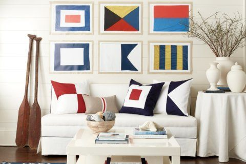 RIGHT AT HOME: Nautical decor with modern panache