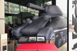 Blow-up tank International Spy Museum