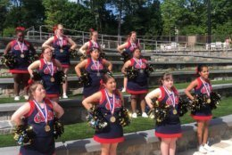 The JOY Supernovas of Montgomery County, Maryland, became the first Special Olympics traditional cheerleading team to compete and win at the Cheerleading World Championships. (WTOP/Mike Murillo)