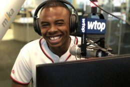 """Quintin Paschall, DC native, Anacostia resident and """"proud HBCU"""" graduate visited WTOP to talk about that moment during the Morehouse College commencement when the class of 2019 learned their student debt would be wiped out thanks to a grant from billionaire Robert F.Smith. (WTOP/Kate Ryan)"""