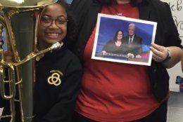 Sara DelVillano with one of her students. (Courtesy Sara DelVillano)