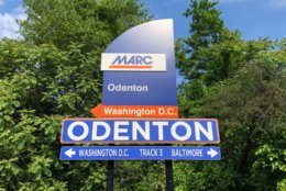 The Odenton MARC station is between D.C. and Baltimore. (WTOP/Nick Ianelli)