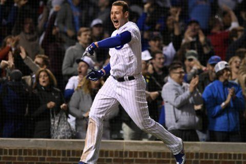 Heyward homer gives Cubs 3-2 win in 11th in Russell's return