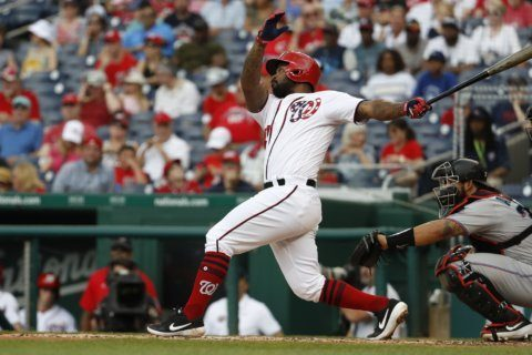 Kendrick homers, drives in 3 as Nats beat Marlins again, 9-6