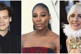 This combination photo shows, from left, actor-singer Harry Styles, tennis star Serena Williams and actress-singer Lady Gaga who will join Anna Wintour as hosts for the 71st annual Met Gala, a fundraiser for the museum's Costume Institute. (AP Photo)