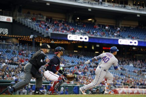 With help from bumbling Nationals, Ramos' slam, Mets win 6-2