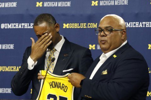 Howard sheds tears of joy as takes the reins at Michigan