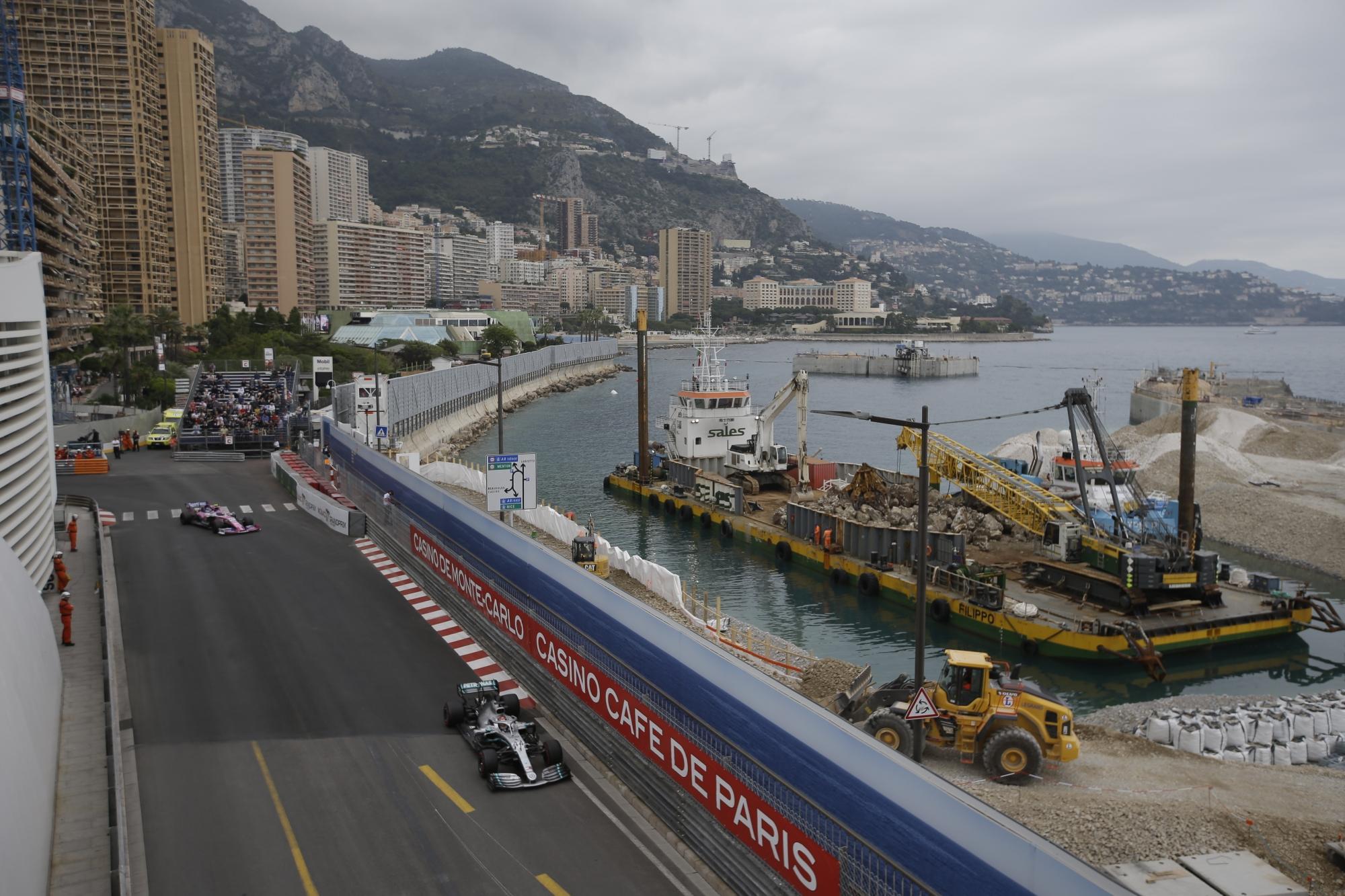 Hamilton Fastest For Mercedes In 1st Practice For Monaco