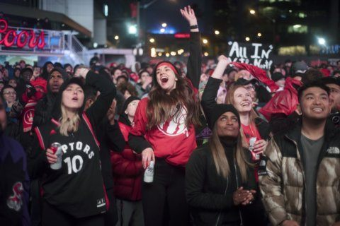 Toronto's Jurassic Park adds college vibe to NBA Finals