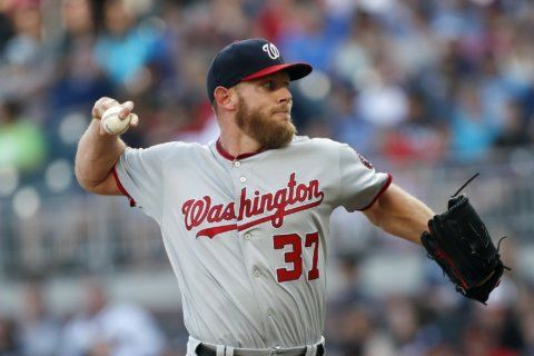 Nationals take on the Braves after Strasburg's solid performance