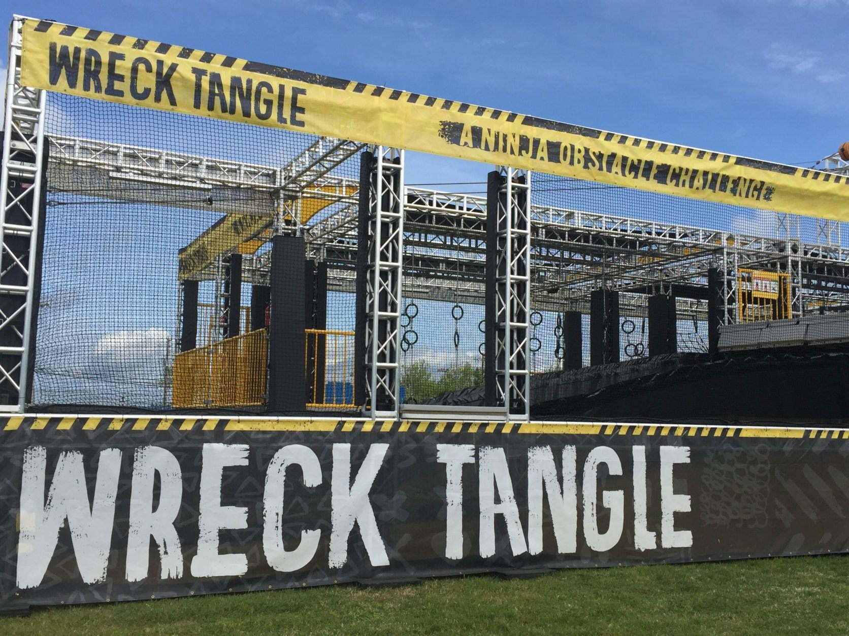 The new WreckTangle obstacle course in Ocean City. (WTOP/John Domen)