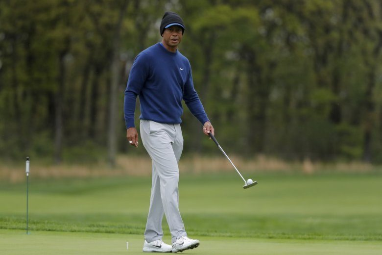 The Latest: Mickelson Shoots 1-under 69, Trails Koepka By