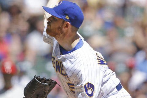 Woodruff nearly perfect through 8, Brewers beat Phillies 9-1