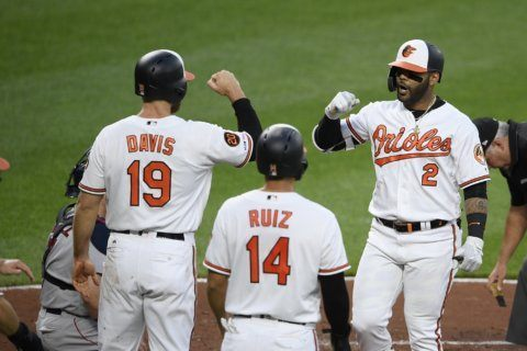 Villar's slam, Means' pitching lift Orioles over Red Sox 4-1