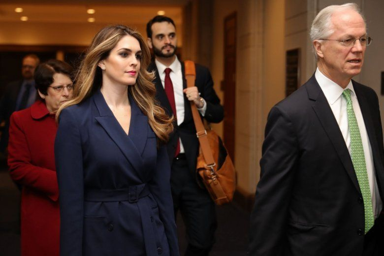 c21ec871f270 Former White House aide Hope Hicks (2nd L) arrives at the U.S. Capitol  Visitors Center February 27, 2018 in Washington, DC.
