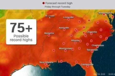 Heat wave to scorch cities from Virginia to Louisiana this Memorial Day weekend
