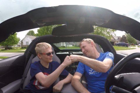 A father-son road trip around the country raises money for autism programs