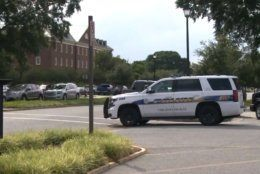 **Embargo: Norfolk-Portsmouth-Newport News, VA** Police had blocked the streets outside the municipal building.